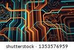 abstract technological...   Shutterstock . vector #1353576959