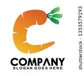 letter c for carrots  simple... | Shutterstock .eps vector #1353579293