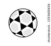 indoor soccer ball   Shutterstock .eps vector #1353600656