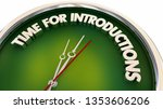 time for introductions meeting...   Shutterstock . vector #1353606206