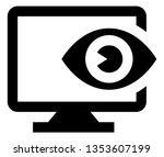 cyber security seeing eye icon | Shutterstock .eps vector #1353607199