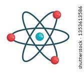 atom molecule isolated icon | Shutterstock .eps vector #1353613586