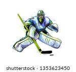 abstract hockey goalkeeper from ...