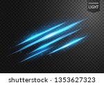 abstract blue line of light... | Shutterstock .eps vector #1353627323