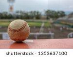 an old baseball background... | Shutterstock . vector #1353637100