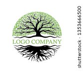 root of the tree logo... | Shutterstock .eps vector #1353666500