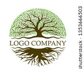 root of the tree logo... | Shutterstock .eps vector #1353666503