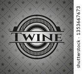 twine realistic black emblem   Shutterstock .eps vector #1353667673