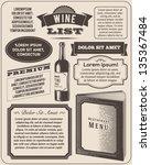 vintage pamphlet | Shutterstock .eps vector #135367484