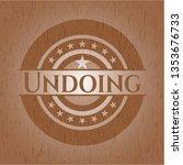 undoing wooden emblem | Shutterstock .eps vector #1353676733