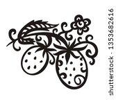 strawberry. vector illustration   Shutterstock .eps vector #1353682616
