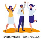 elegant business people... | Shutterstock .eps vector #1353707666
