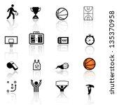 basketball icon set | Shutterstock .eps vector #135370958