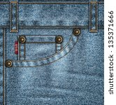denim template with jeans... | Shutterstock .eps vector #135371666