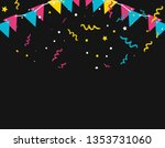 pattern of party confetti with... | Shutterstock .eps vector #1353731060