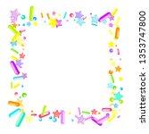 sprinkles grainy. cupcake... | Shutterstock .eps vector #1353747800