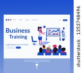business training  vector... | Shutterstock .eps vector #1353748496