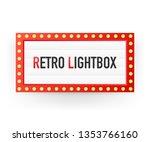 retro lightbox billboard... | Shutterstock .eps vector #1353766160