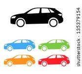 set of vector suv car... | Shutterstock .eps vector #135379154