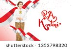 kartini day  r a kartini the... | Shutterstock .eps vector #1353798320