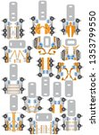 construction machinery. set for ... | Shutterstock .eps vector #1353799550
