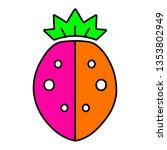 strawberry icon isolated on...