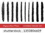 hand made scribble brush set... | Shutterstock .eps vector #1353806609