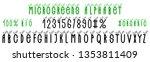 microgreens alphabet. letters... | Shutterstock .eps vector #1353811409