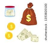 set of money vector   Shutterstock .eps vector #1353820100
