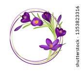 crocuses. crocus. beautiful... | Shutterstock .eps vector #1353823316