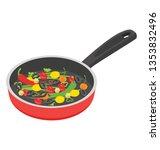 cooking pan  flat isometric... | Shutterstock .eps vector #1353832496