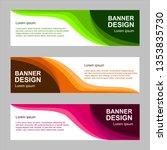 vector abstract design banner... | Shutterstock .eps vector #1353835730