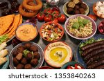 middle eastern or arabic dishes ... | Shutterstock . vector #1353840263