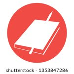 color book with pen vector icon
