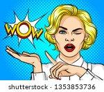 color vector illustration pop... | Shutterstock .eps vector #1353853736