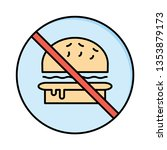 not allowed   fast food   stop   | Shutterstock .eps vector #1353879173
