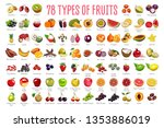 fruits icons   a huge set... | Shutterstock .eps vector #1353886019