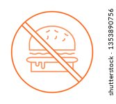 not allowed   fast food   stop   | Shutterstock .eps vector #1353890756