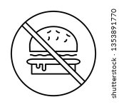not allowed   fast food   stop   | Shutterstock .eps vector #1353891770