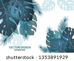 vector background with tropical ... | Shutterstock .eps vector #1353891929
