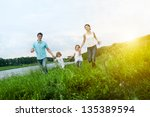 enjoying the life together | Shutterstock . vector #135389594