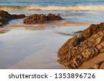 beach of  helgueras  noja ... | Shutterstock . vector #1353896726