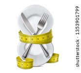 plate with centimeter on a... | Shutterstock .eps vector #1353901799