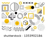 mega set of memphis design... | Shutterstock .eps vector #1353902186