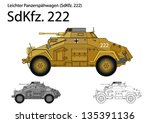 ww2 german sdkfz. 222 armored... | Shutterstock .eps vector #135391136
