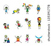 vector illustration of kids... | Shutterstock . vector #135391778