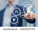 business management success... | Shutterstock . vector #1353922793