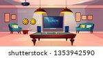 comfortable recreation room for ... | Shutterstock .eps vector #1353942590