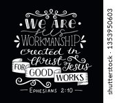 hand lettering we are his...   Shutterstock .eps vector #1353950603