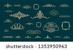 huge rosette wicker border... | Shutterstock .eps vector #1353950963